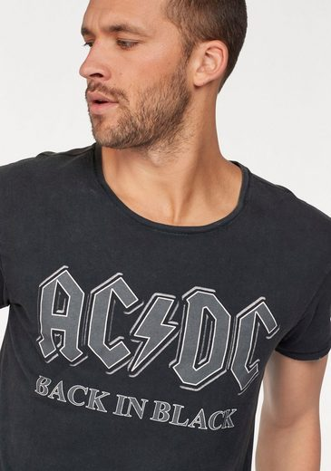 Gipsy 2.0 Rundhalsshirt AC/DC, mit Back in Black Schriftzug