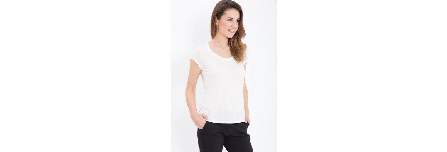 Mexx T-Shirt, mit V-Ausschnitt aus Viskose