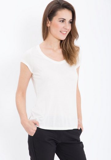 Mexx T-shirt With V-neck From Viscous