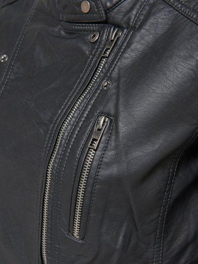 Only Biker-Jacke in Leder-Optik