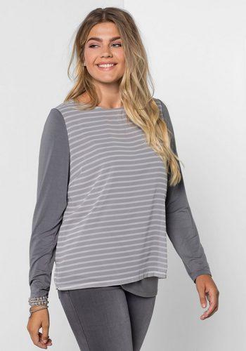 Damen sheego Style Blusenshirt grau | 04054697817416