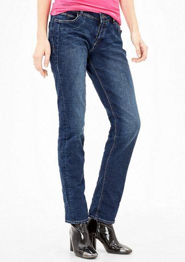 s.Oliver RED LABEL Shape Slim: Jeans mit Knopfleiste