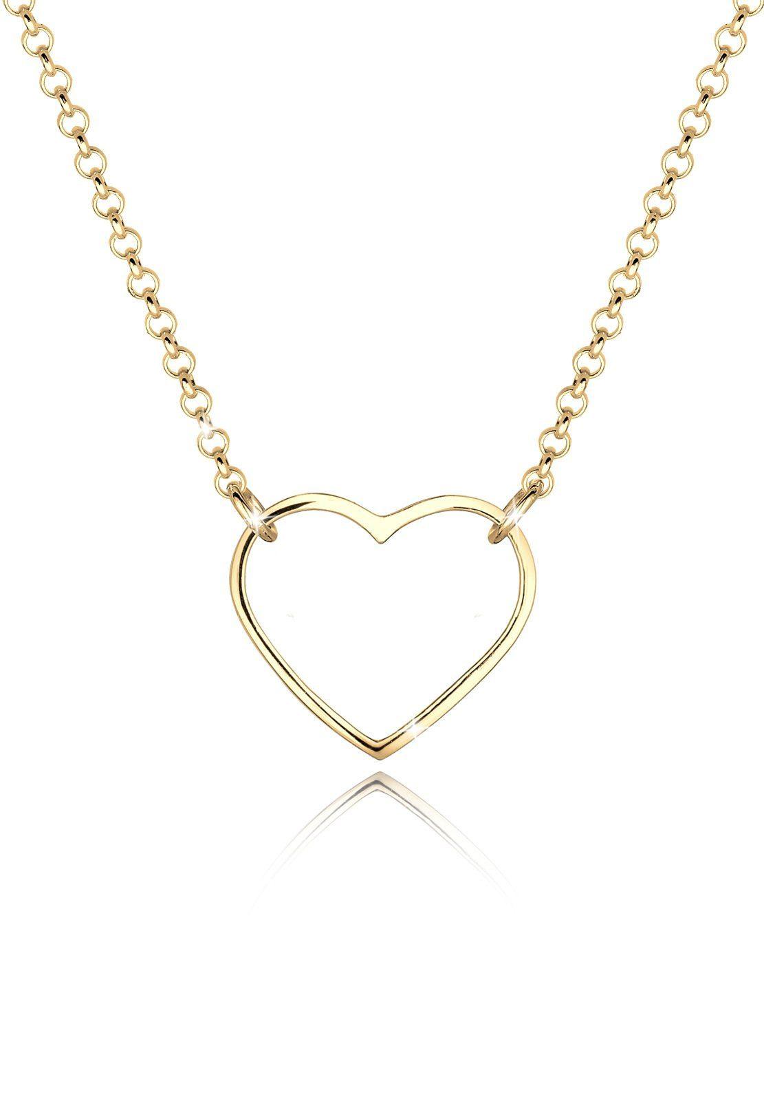 Goldhimmel Halskette »Herz Filigran Dezent 925 Sterling Silber«