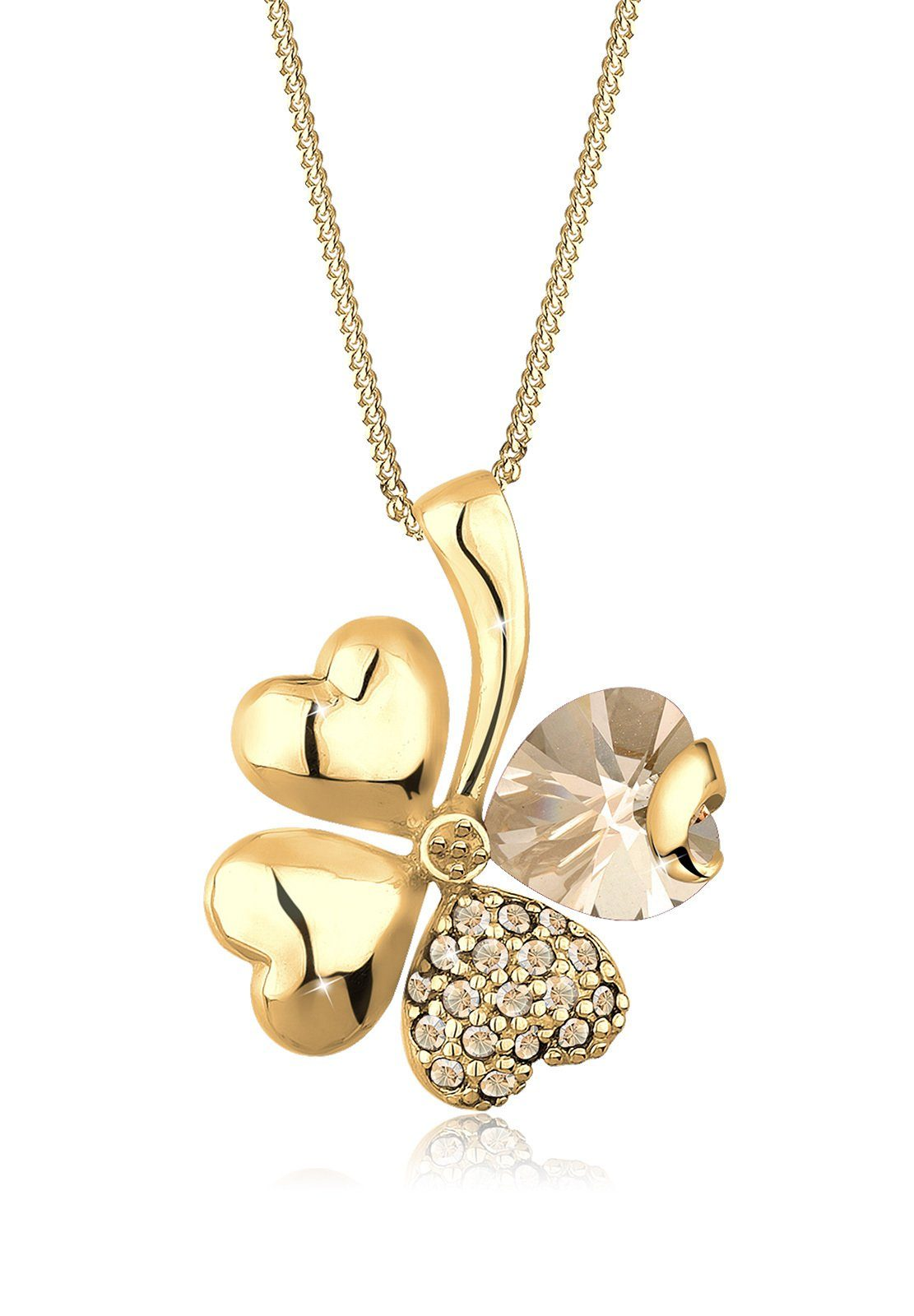 Goldhimmel Halskette »Kleeblatt Swarovski Kristalle 925 Sterling Silber«