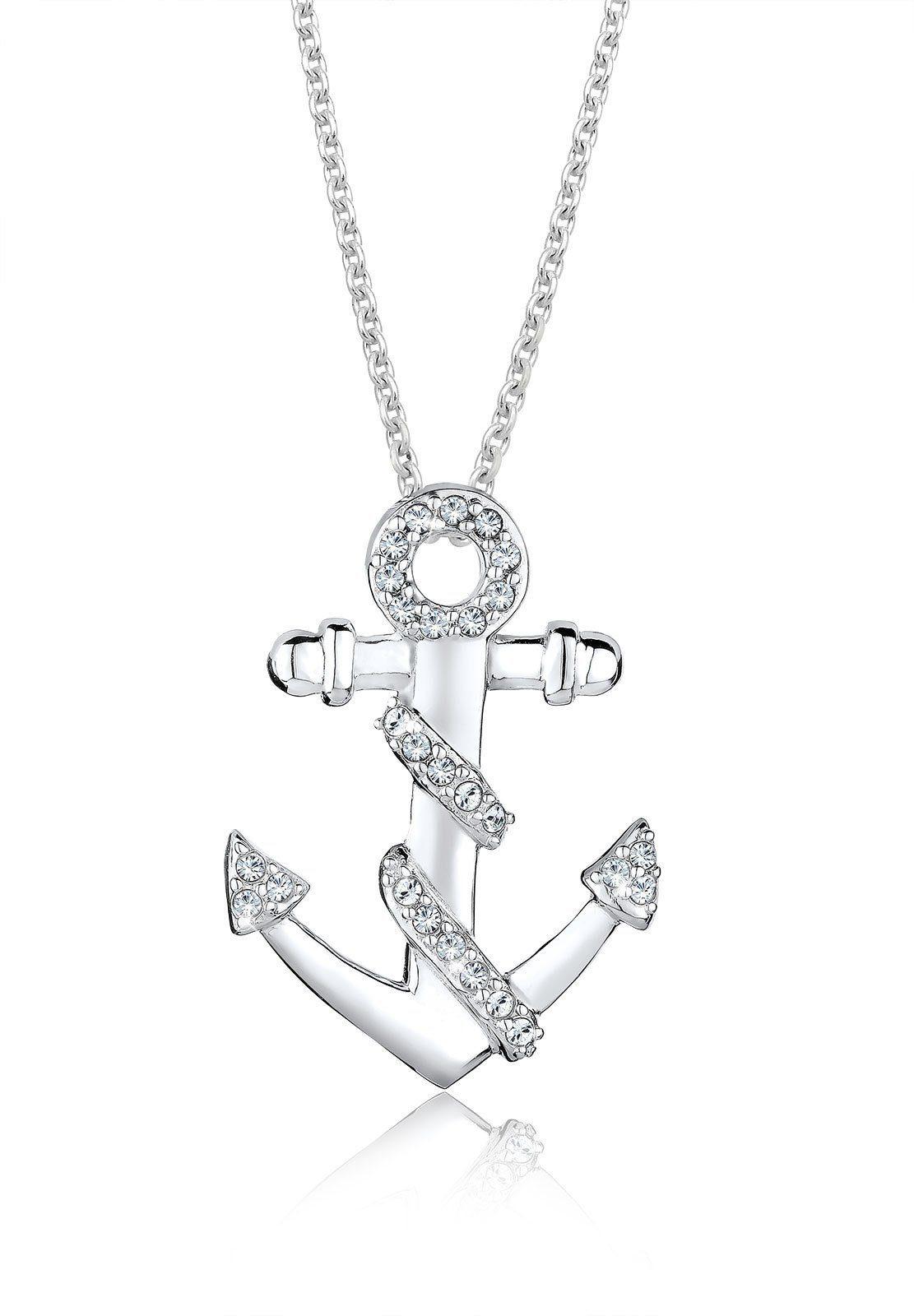 Elli Halskette »Anker Meer Swarovski® Kristalle 925 Silber Monisha«