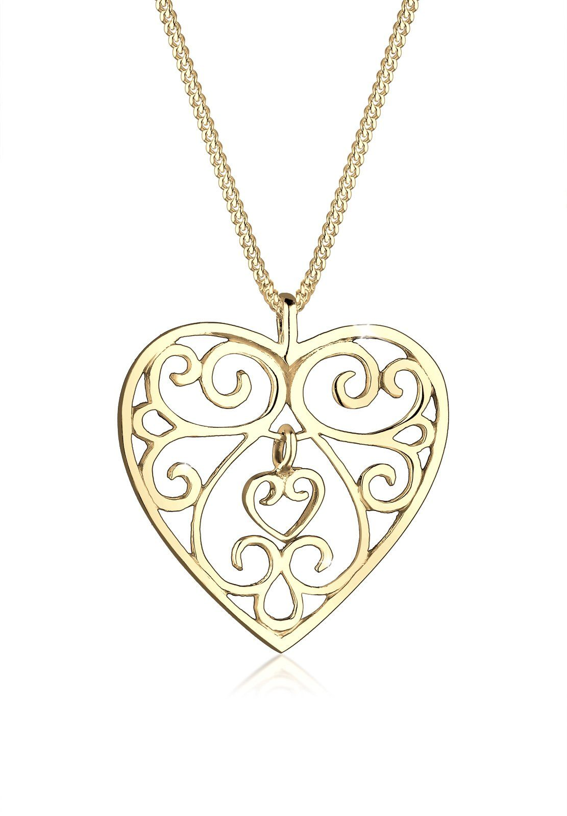 Goldhimmel Halskette »Herz Ornament 925 Sterling Silber Tatjana«