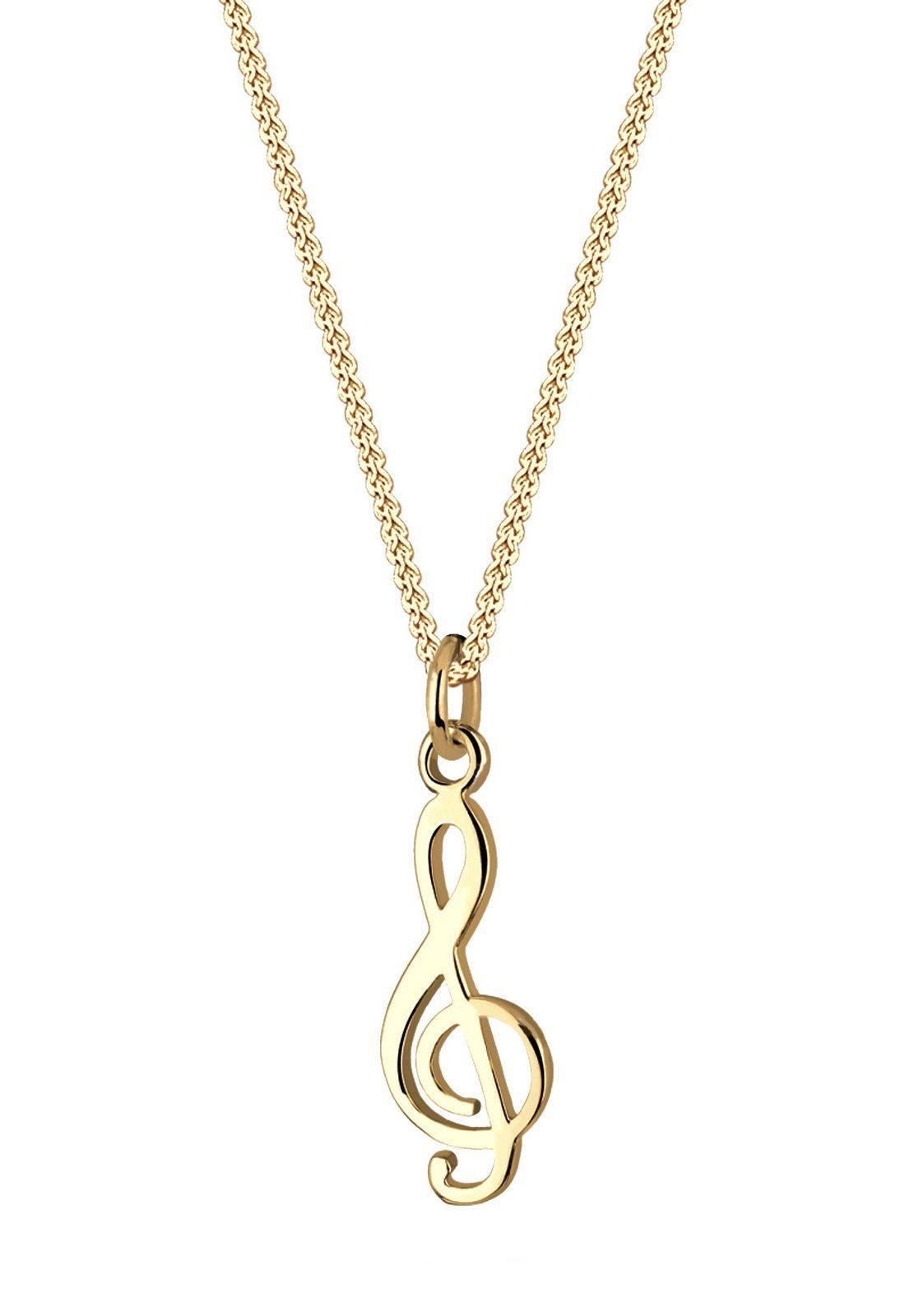 Goldhimmel Halskette »Notenschlüssel Filigran 925 Sterling Silber«