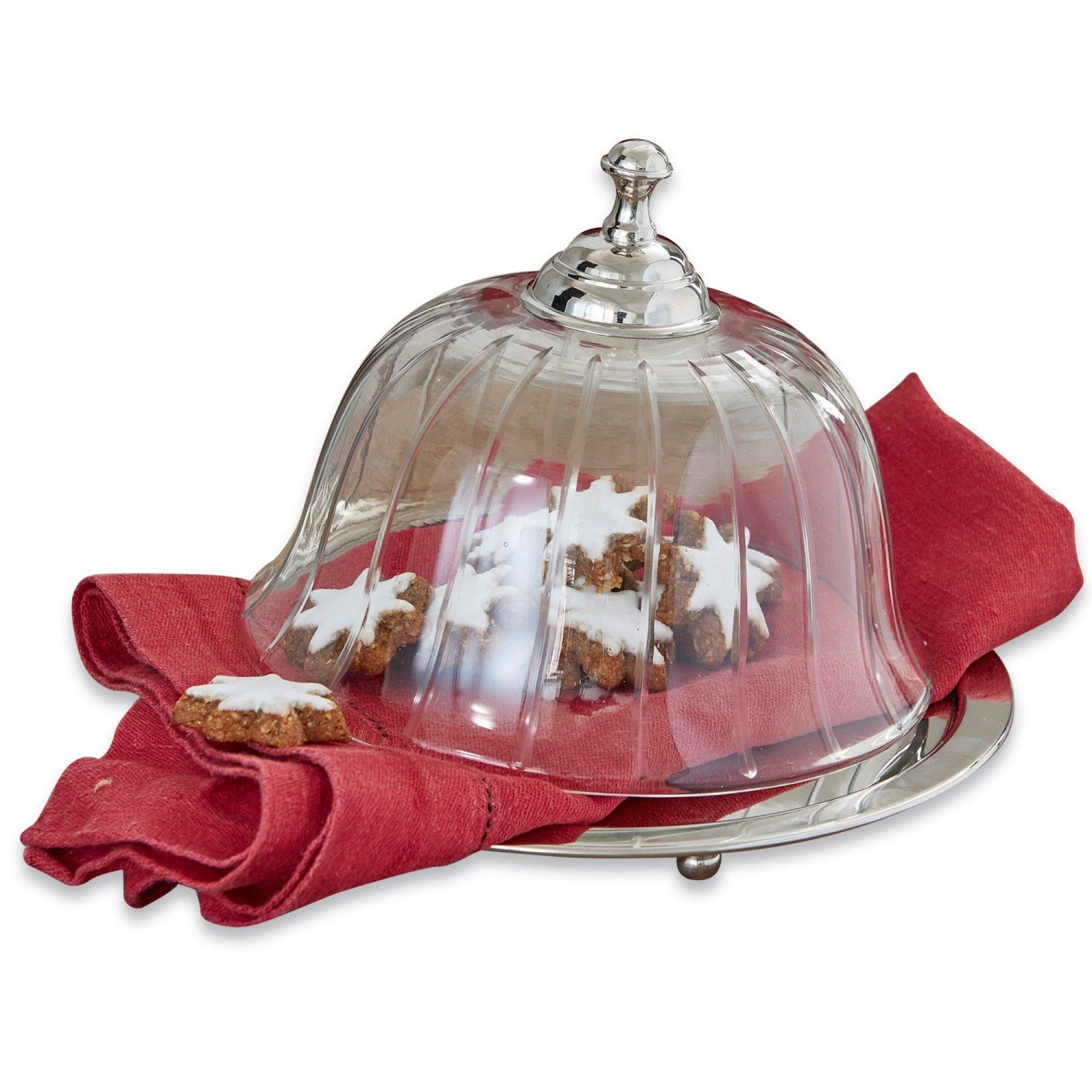 Loberon Glasglocke mit Platte »Humbeline«