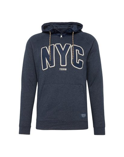 Tom Tailor Denim Kapuzensweatshirt raglan hoody with nylonmix