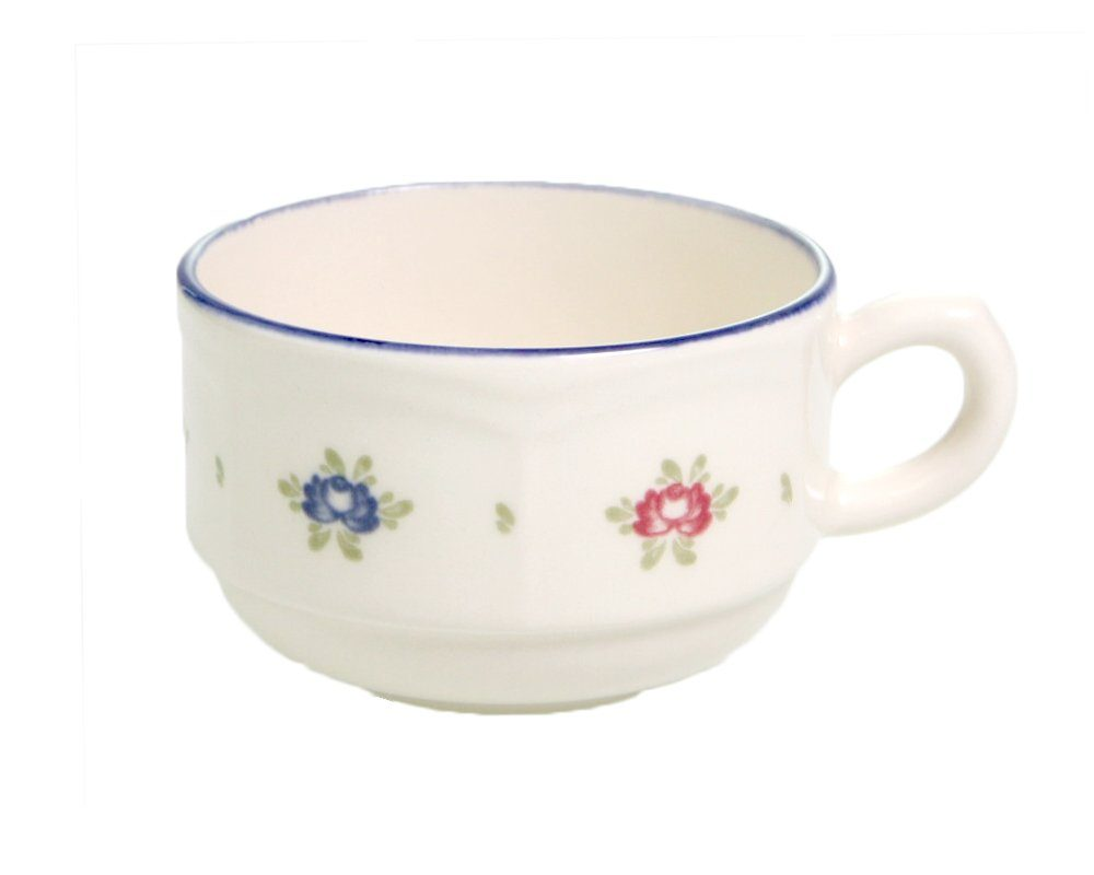 Zeller Keramik Obertasse, stapelbar »Petite Rose«