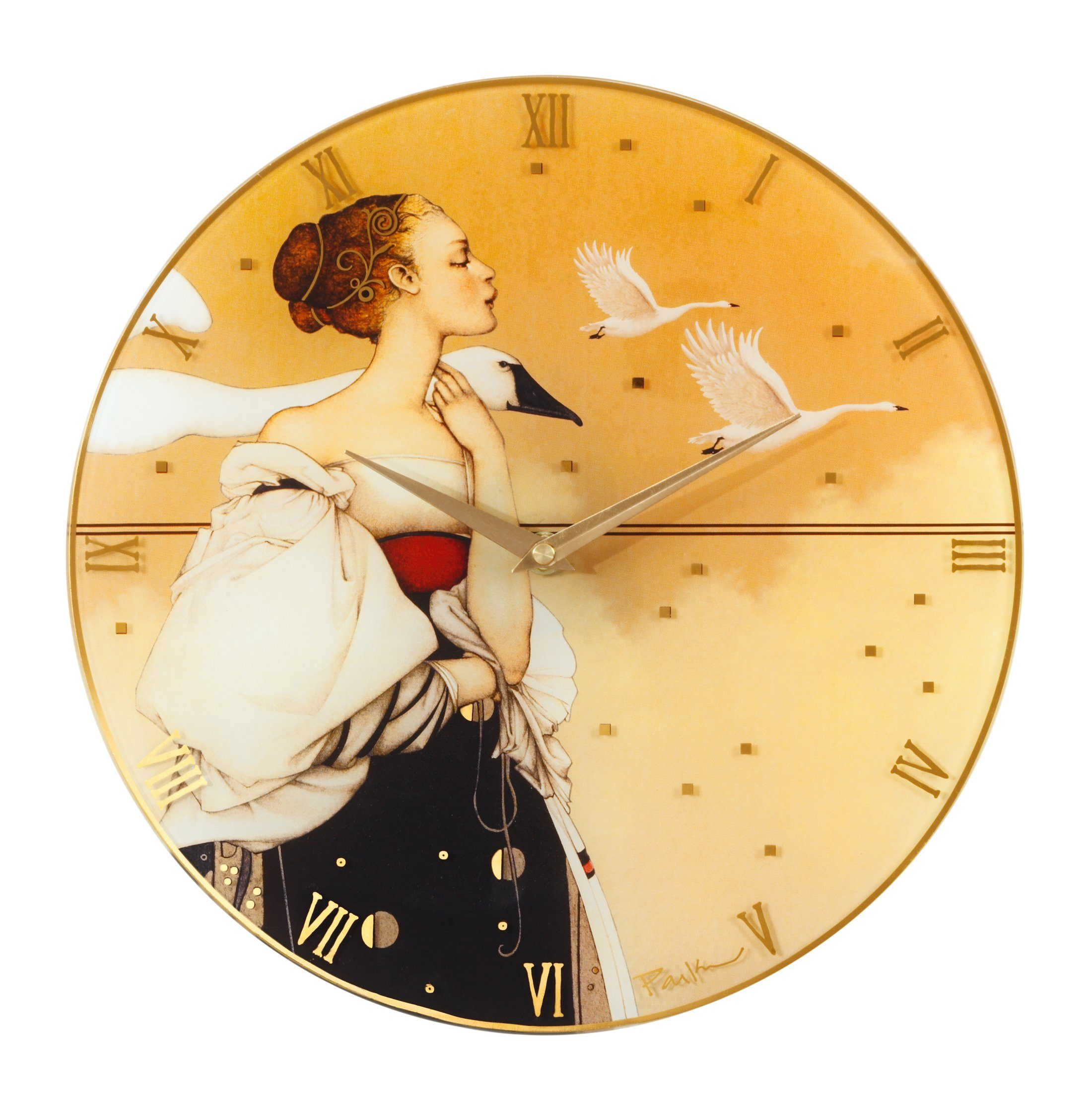 Goebel Pale Swan Wanduhr »Artis Orbis«