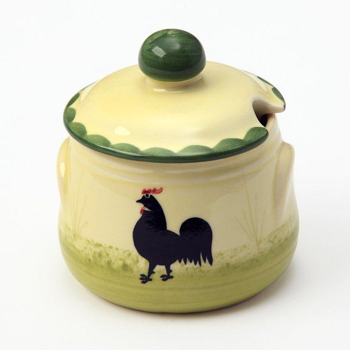 Zeller Keramik Geleedose »Hahn und Henne«