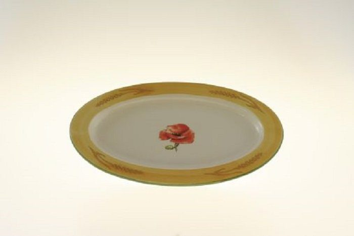 Zeller Keramik Platte, oval »Kornfeld«