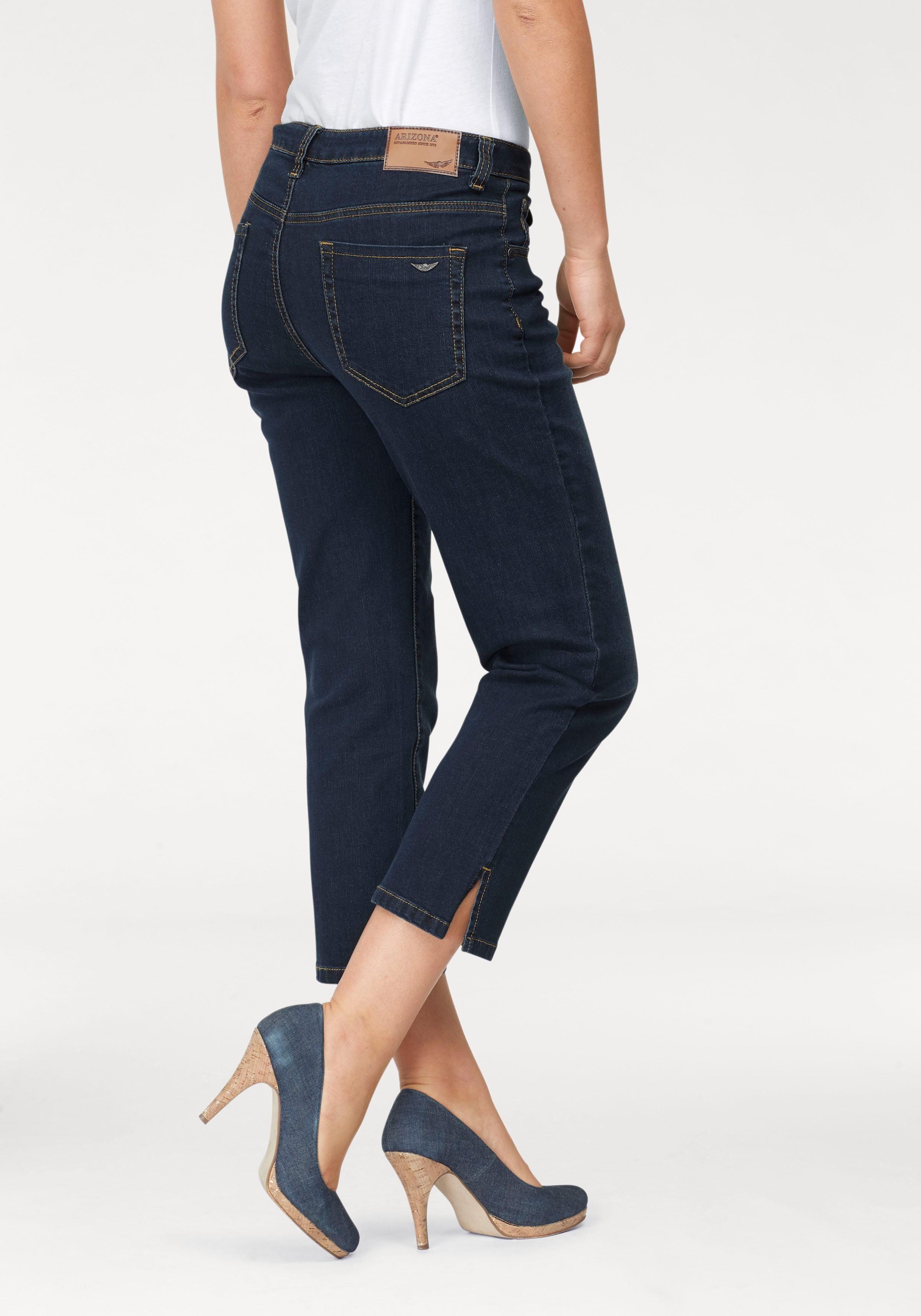Arizona 7/8-Jeans »seitliche Schlitze am Saum« High Waist