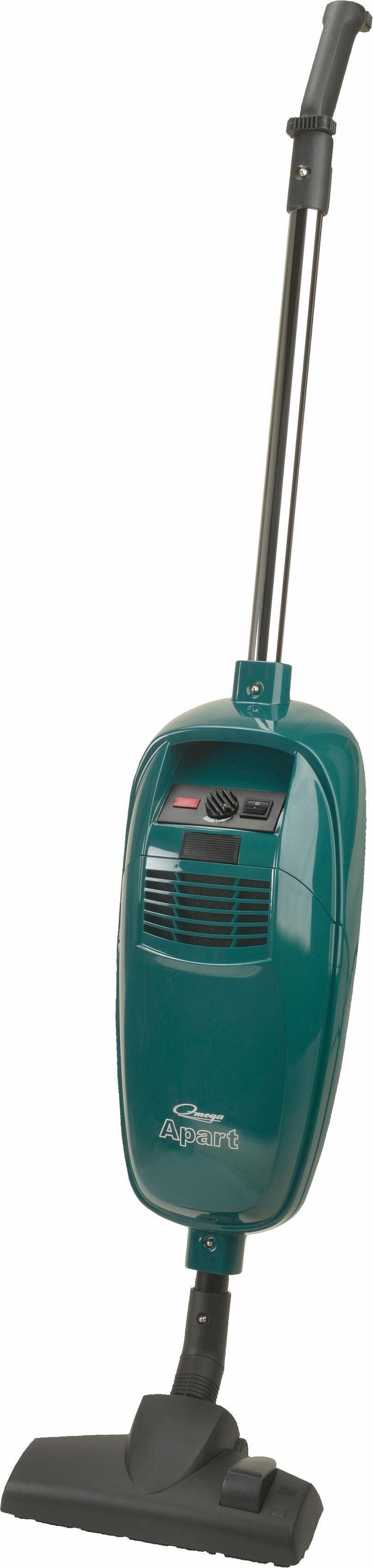 Omega Stielstaubsauger APART Turbo & Parkett, 800 Watt, mit Beutel, Turbo- und Parkettbürste, umschaltbare Bodendüse, Polster- und Fugendüse