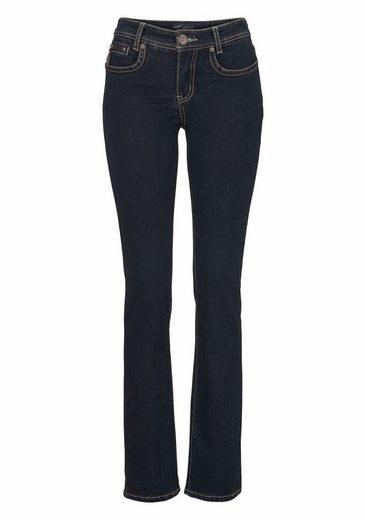 Arizona Gerade Jeans mit Zippertasche, Mid Waist
