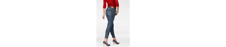 Arizona 7/8-Jeans Mit Fake-Zippertaschen, Mid Waist