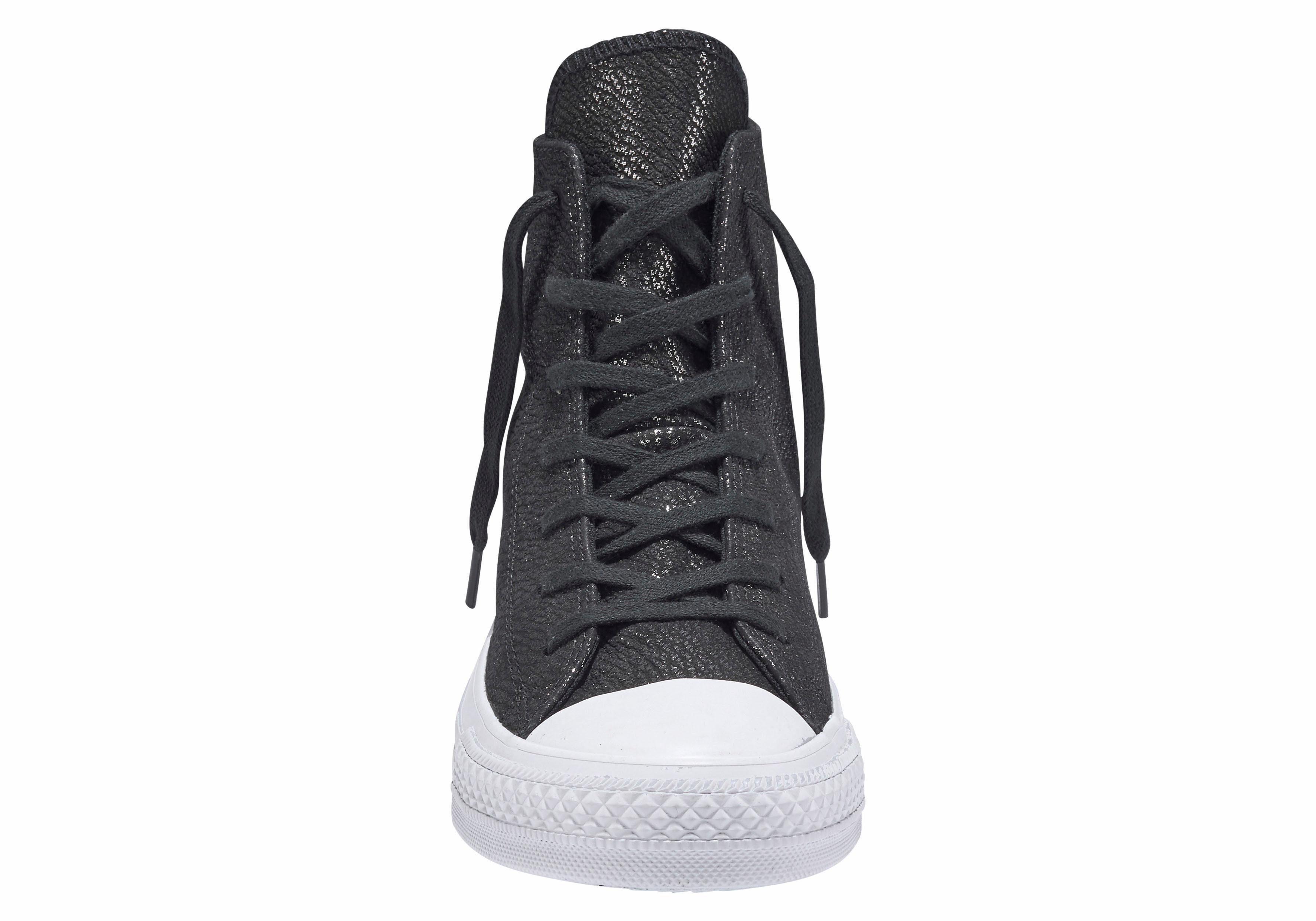 Converse Chuck Taylor All Star Hi Shiny Uppper Sneaker online kaufen  schwarz-silberfarben