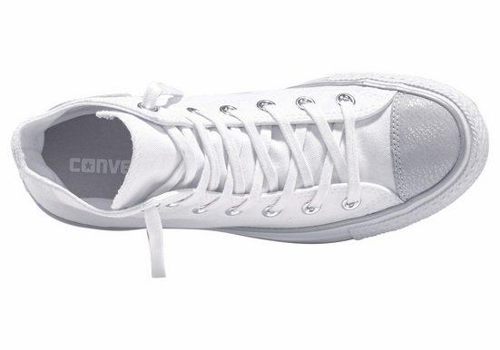 Converse Mandrin Taylor Toute Étoile Salut Argent Sneaker
