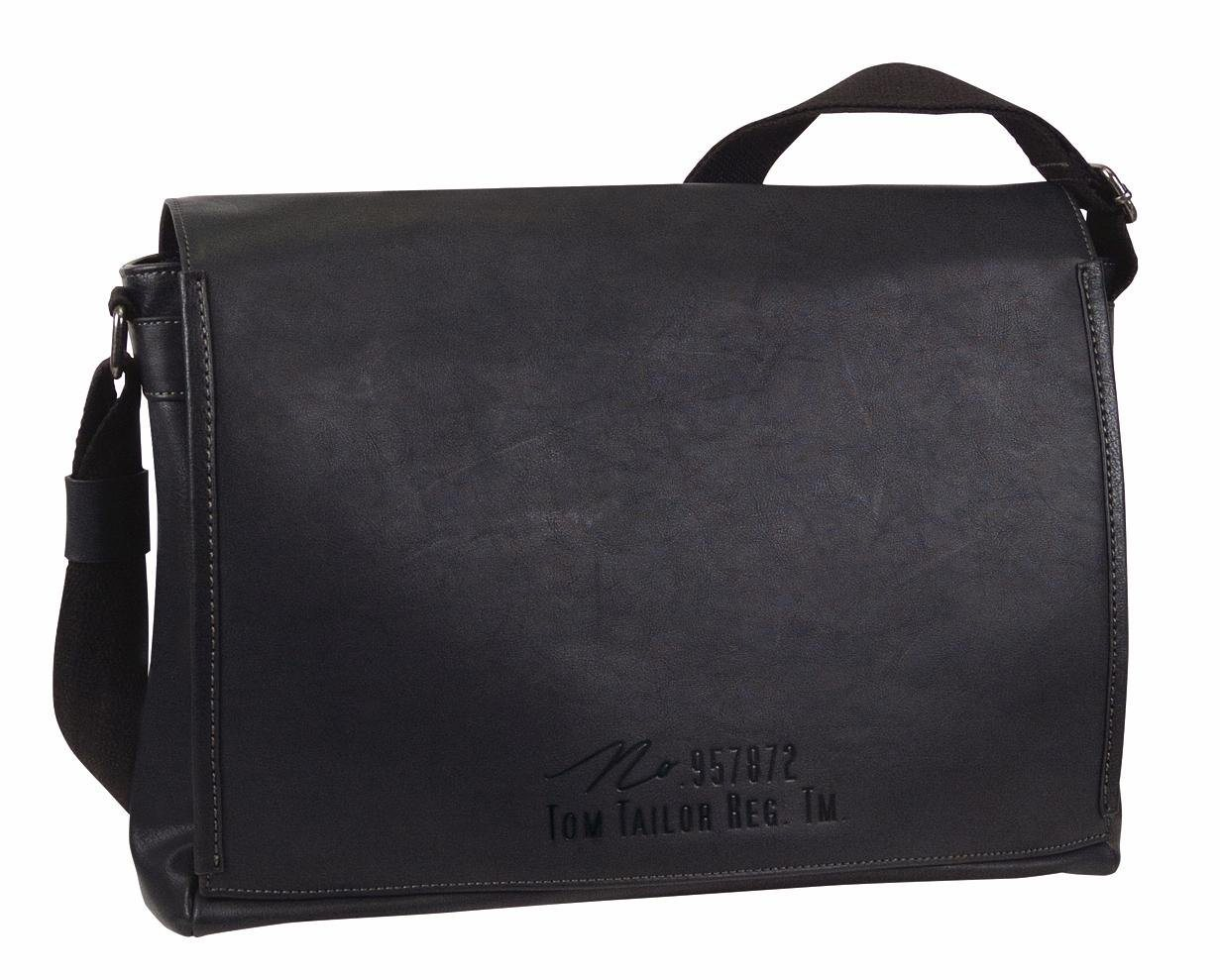 TOM TAILOR Messenger Bag »KENNY«, mit gepolstertem Laptopfach | Taschen > Business Taschen > Messenger Bags | Schwarz | TOM TAILOR