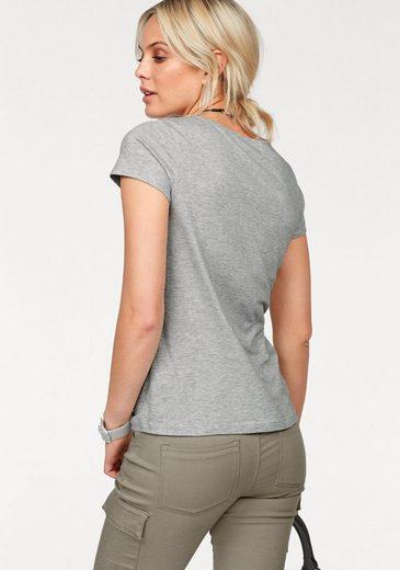Arizona V-Shirt mit Arizona Denim Print
