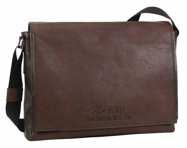 Tom Tailor Messenger Bag »KENNY«, mit gepolstertem Laptopfach | Taschen > Business Taschen > Messenger Bags | Braun | Tom Tailor