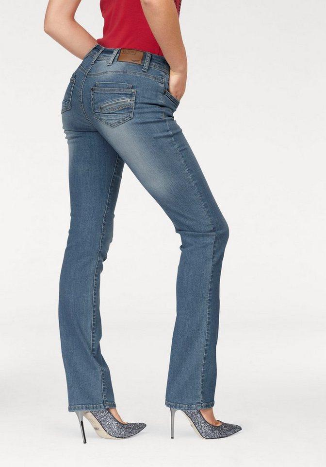 Arizona Gerade Jeans »mit Zippertasche« Mid Waist   Bekleidung > Jeans > Gerade Jeans   Blau   Jeans - Denim   Arizona
