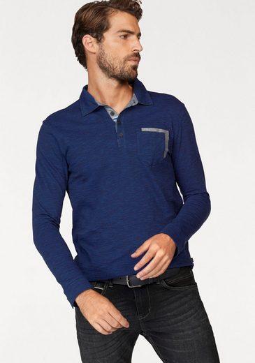 Tom Tailor Langarm-Poloshirt