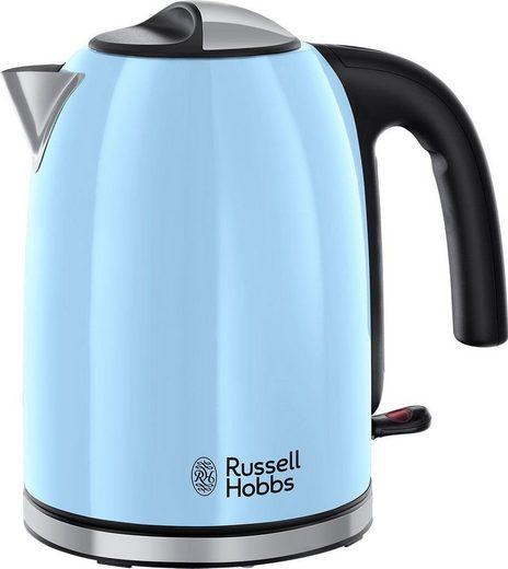 RUSSELL HOBBS Wasserkocher 20417-70 Colours Plus+ Heavenly Blue WK, 1,7 l, 2400 W