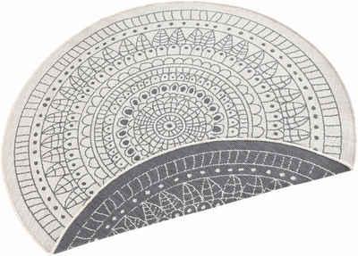 Teppich »Porto«, bougari, rund, Höhe 5 mm, In- und Outdoor geeignet, Wendeteppich, Wohnzimmer
