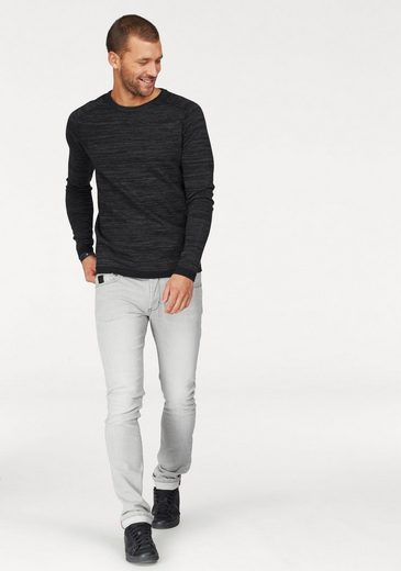 Bruno Banani Rundhalspullover, in Raglan-Optik