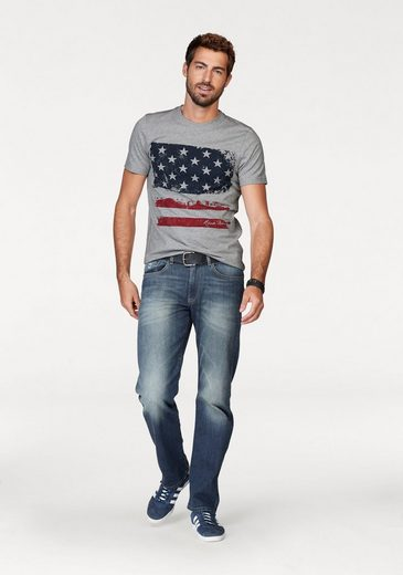 Rhode Island T-Shirt, mit Flaggen-Print