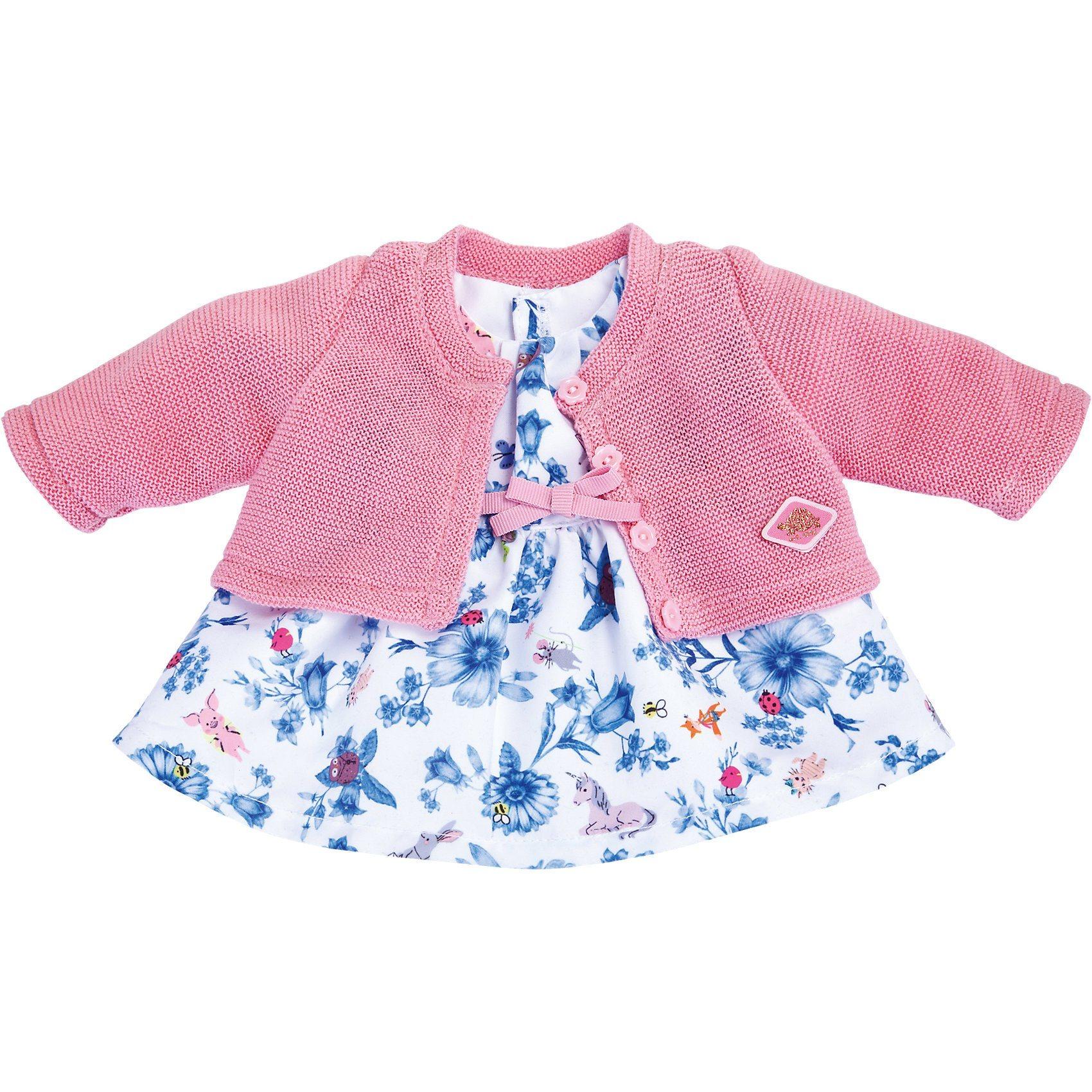 Schildkröt Puppenbekleidung 2 in 1 Kleid mit Jacke, 36 cm