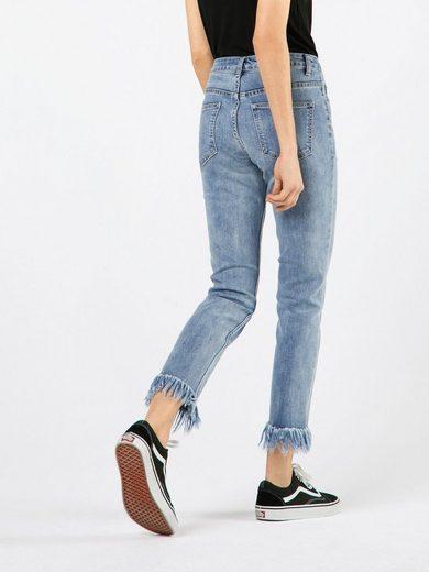 Glamorous 7/8-Jeans Skinny, Fransensaum
