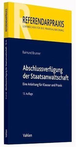 Broschiertes Buch »Abschlussverfügung der Staatsanwaltschaft«