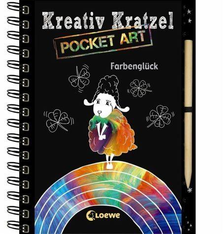 Broschiertes Buch »Kreativ-Kratzel Pocket Art: Farbenglück«