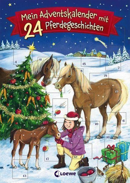 Broschiertes Buch »Mein Adventskalender mit 24 Pferdegeschichten«