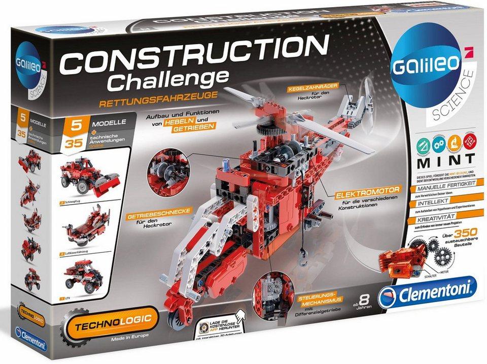 Clementoni Experimentierkasten,  Galileo Construction Challenge Rettungsfahrzeuge  online kaufen