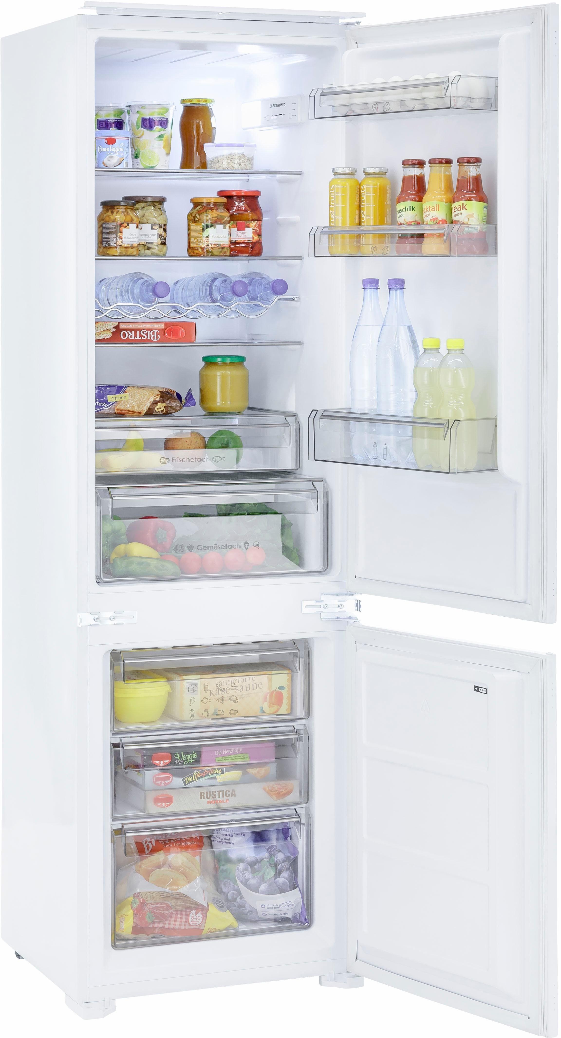 Exquisit Einbaukühlgefrierkombination EKGC270-70-42, 177,5 cm hoch, 54,5 cm breit, Energieeffizienzklasse: A++