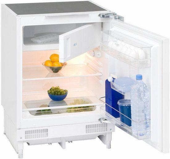 exquisit Einbaukühlschrank UKS130-1.2A+, 82 cm hoch, 59 cm breit, 82 cm hoch, 59 cm breit