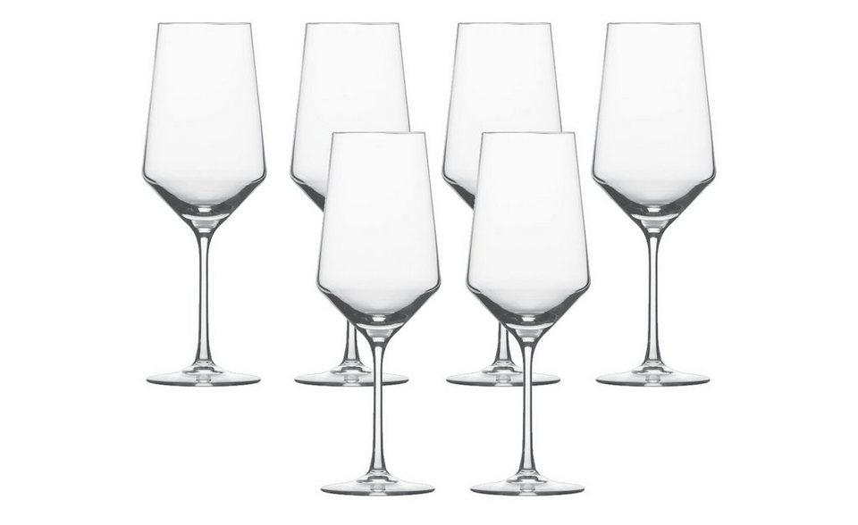 schott zwiesel bordeaux glas 6er set pure kaufen otto. Black Bedroom Furniture Sets. Home Design Ideas