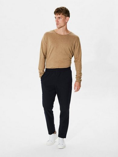 Selected Homme Crew Neck Seidenmischfaser - Strickpullover
