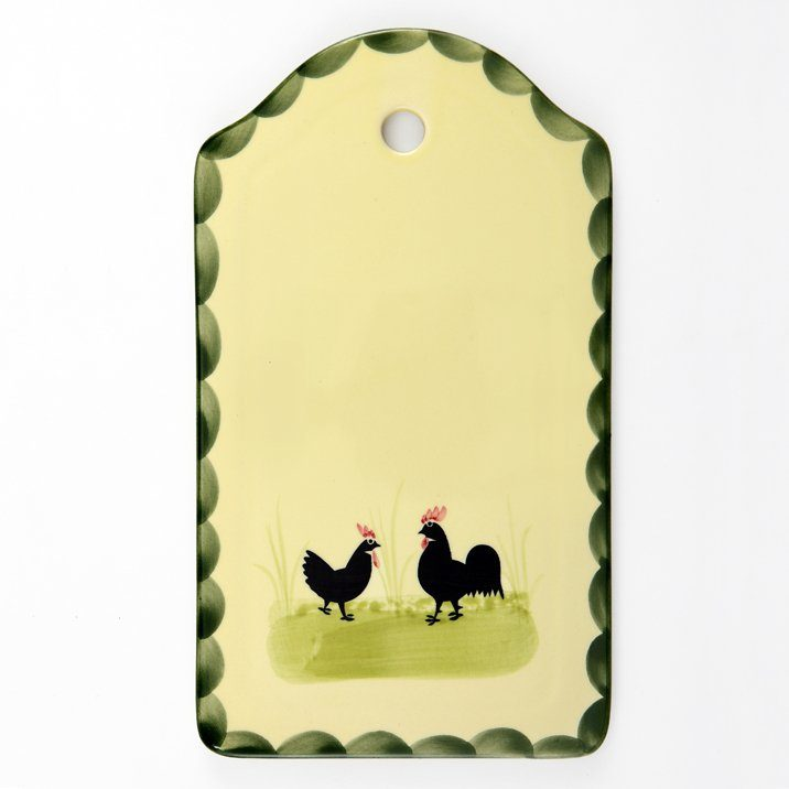 Zeller Keramik Brotplatte »Hahn und Henne«