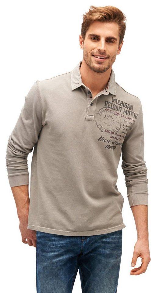 tom tailor langarmshirt mit print online kaufen otto. Black Bedroom Furniture Sets. Home Design Ideas