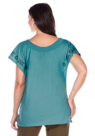 sheego Casual T-Shirt, mit Flügelärmeln