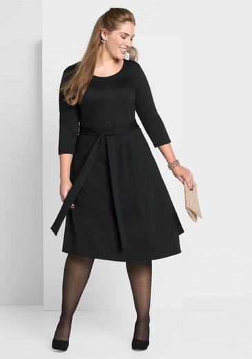 sheego Style Jerseykleid, schweres, leicht elastische Qualität