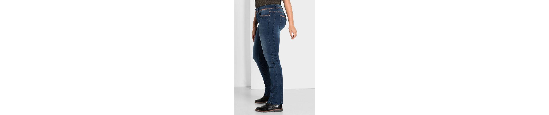 sheego Denim Stretch-Jeans, mit trendigem Glitterprint