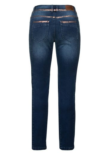 Sheego Denim Stretch-jeans, Mit Trendigem Glitterprint