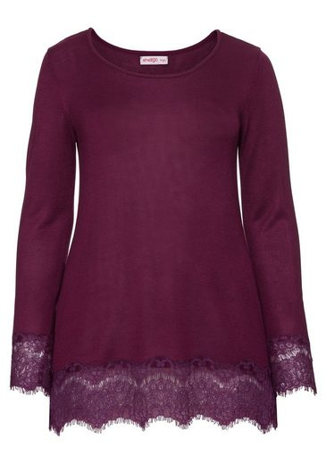 sheego Style Longpullover, in A-Linien-Form