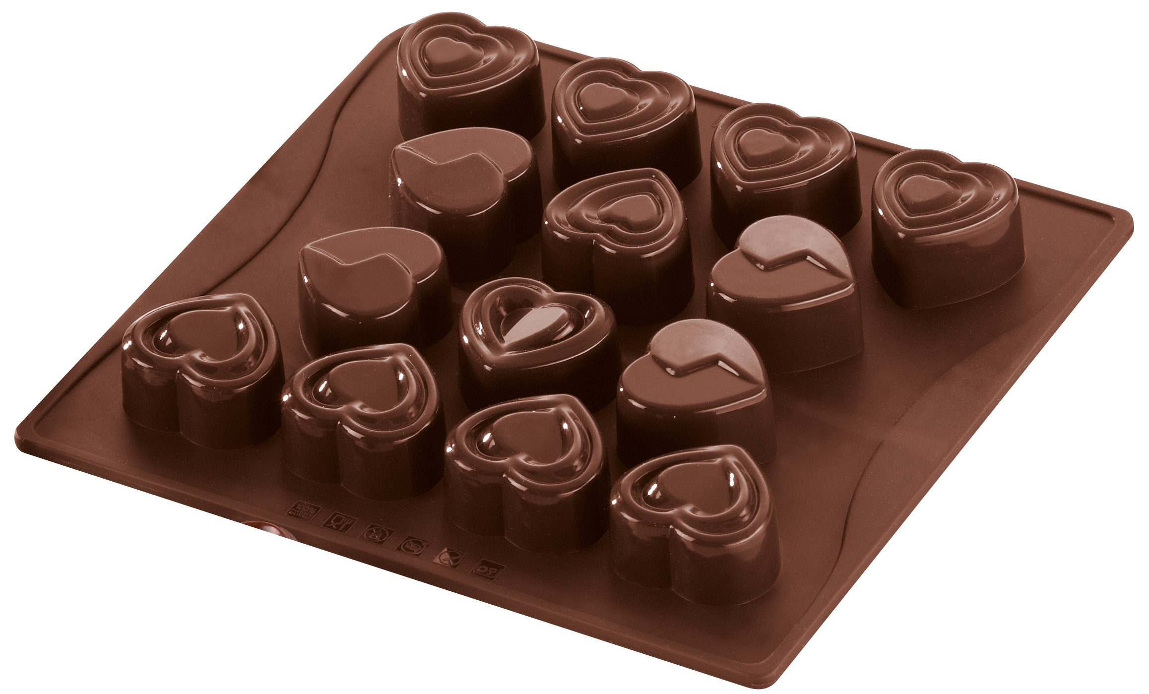 Dr. Oetker Schokoladenform Süße Herzen 14 Motive »Confiserie«
